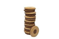 Sandwich cookies Stock Image