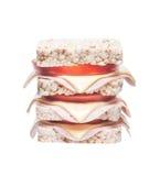 Sandwich corn crackers Stock Images