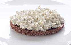 Sandwich with cottage cheese Royalty Free Stock Image