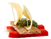 Sandwich with crab meat Stock Image