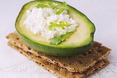 Sandwich of crispy bread Royalty Free Stock Photography