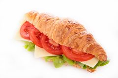 Sandwich croissant Stock Photo