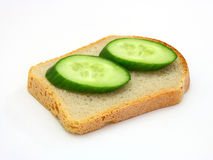 Sandwich with a cucumber Royalty Free Stock Images