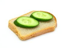 Sandwich with a cucumber Stock Photo