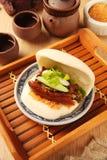 Sandwich cuit à la vapeur images libres de droits