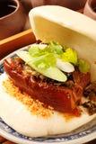 Sandwich cuit à la vapeur image stock