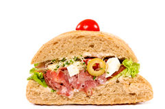 Sandwich cut Royalty Free Stock Photo