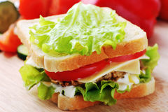 Sandwich with  cutlet Royalty Free Stock Image