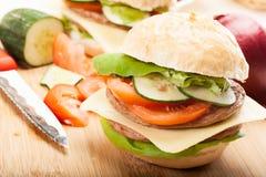 Sandwich on cutting board Stock Photography