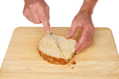 Sandwich cutting Stock Image