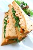 Sandwich délicieux à écrevisses image libre de droits