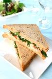 Sandwich délicieux à écrevisses photographie stock libre de droits