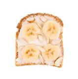 Sandwich délicieux à banane Image libre de droits