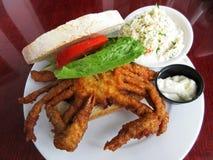 Sandwich délicieux à crabe de Doux-SHELL images libres de droits