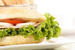 Sandwich délicieux avec du jambon Photo libre de droits