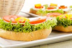 Sandwich délicieux avec du jambon Images libres de droits
