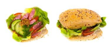 Sandwich délicieux et sain images libres de droits