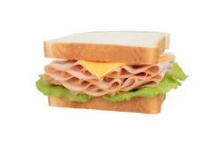 Sandwich d'isolement à poulet et à fromage Photo libre de droits