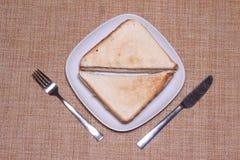 Sandwich de la plaque blanche photo stock