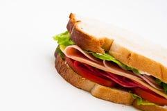 Sandwich de la Turquie et au salami Photos libres de droits