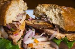 Sandwich DE lechon Royalty-vrije Stock Foto's