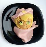 Sandwich in de vorm van het cowboy` s hoofd Royalty-vrije Stock Foto's