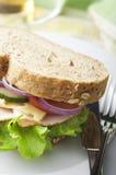 Sandwich del formaggio e della Turchia Fotografie Stock
