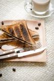Sandwich del pane del cioccolato fotografie stock libere da diritti
