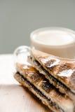 Sandwich del pane del cioccolato fotografia stock libera da diritti