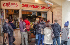 Sandwich Deli in Chamonix, France Royalty Free Stock Photos