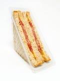 Sandwich in der luftdichten Verpackung Stockfotografie