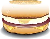 Sandwich des englischen Muffins Lizenzfreies Stockfoto