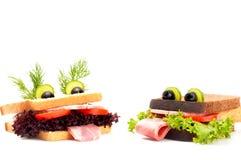 Sandwich deux drôle pour l'enfant images libres de droits