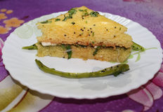 Sandwich dhokla Royalty Free Stock Images