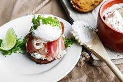 Sandwich diététique léger Photo libre de droits