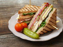 Sandwich di club Fotografie Stock