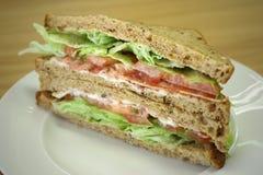 Sandwich di club del prosciutto Fotografia Stock