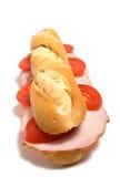 Sandwich die op wit wordt geïsoleerd Royalty-vrije Stock Foto's