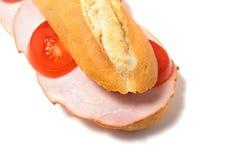 Sandwich die op wit wordt geïsoleerd_ Royalty-vrije Stock Afbeeldingen