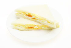 Sandwich on a dish Royalty Free Stock Photography