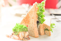 Sandwich. Dish on th e table Royalty Free Stock Photo