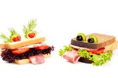 Sandwich drôle à deux amants pour l'enfant Photo libre de droits