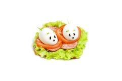 Sandwich drôle pour l'enfant. photo libre de droits