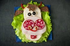 Sandwich drôle pour l'enfant images libres de droits