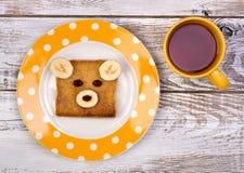 Sandwich drôle pour un enfant Photographie stock