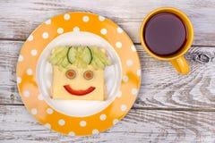 Sandwich drôle pour un enfant Photos stock