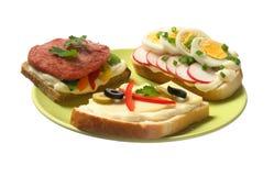 Sandwich drie Stock Foto's