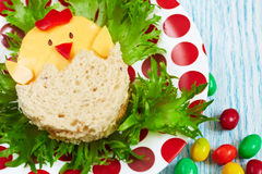 Sandwich for Easter Royalty Free Stock Images