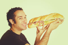 Sandwich Eating Man Royalty Free Stock Photos