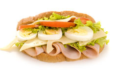 Sandwich with egg Stock Photos